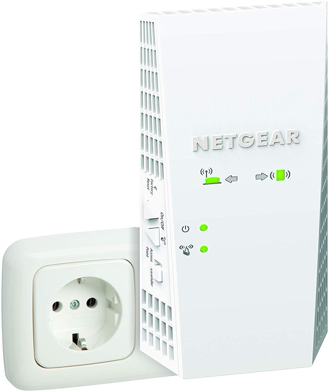 Netgear WLAN Mesh Repeater EX7300 WLAN Verstaerker & Super-Boost WiFi (AC2200 Dual Band, Abdeckung 3 bis 4 Räume & 35 Geräte, uvm)