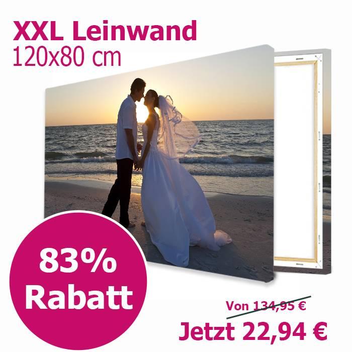 Lieblingsfoto.de Leinwand 120x80cm für 29,89€