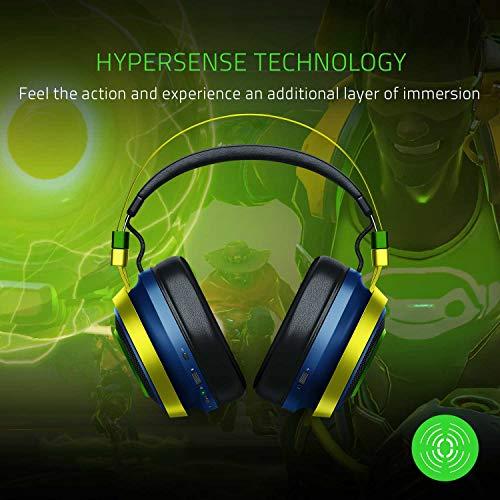 Amazon: Razer Nari Ultimate Overwatch Lucio Edition Kabelloses Gaming-Headset mit HyperSense & THX Spatial Audio 360° positionales Audio