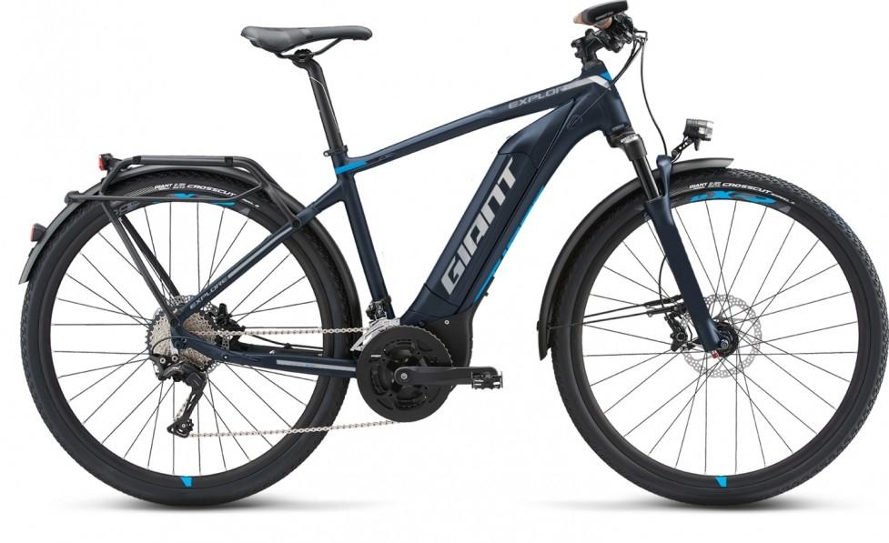 Mega Bike: E-Bike GIANT - Explore E+ 2 deepblue-lightblue-grey matt 43,5cm