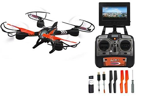 Jamara 422001 - Loky FPV Drone LCD Screen Kompass Flyback Turbo