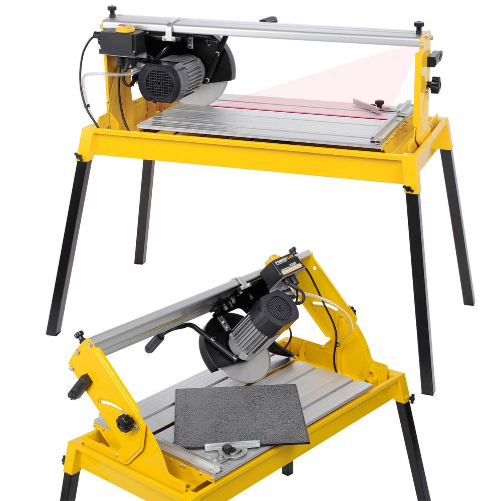Fliesenschneider Nassschneider 1100 W Laser Diamanttrennscheibe   Wasserbehälter und Pumpe