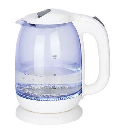 TecTro Glaswasserkocher WK 188, 1,7 Liter, 2200 W, mit LED-Beleuchtung für 9,99 Euro [ab 09.03. Kodi-Filiale] [bis 06.03. POCO]