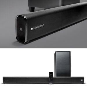 Cambridge Audio TVB2 (V2) - Soundbar mit kabellosem Subwoofer | 3x HDMI, NFC, BT