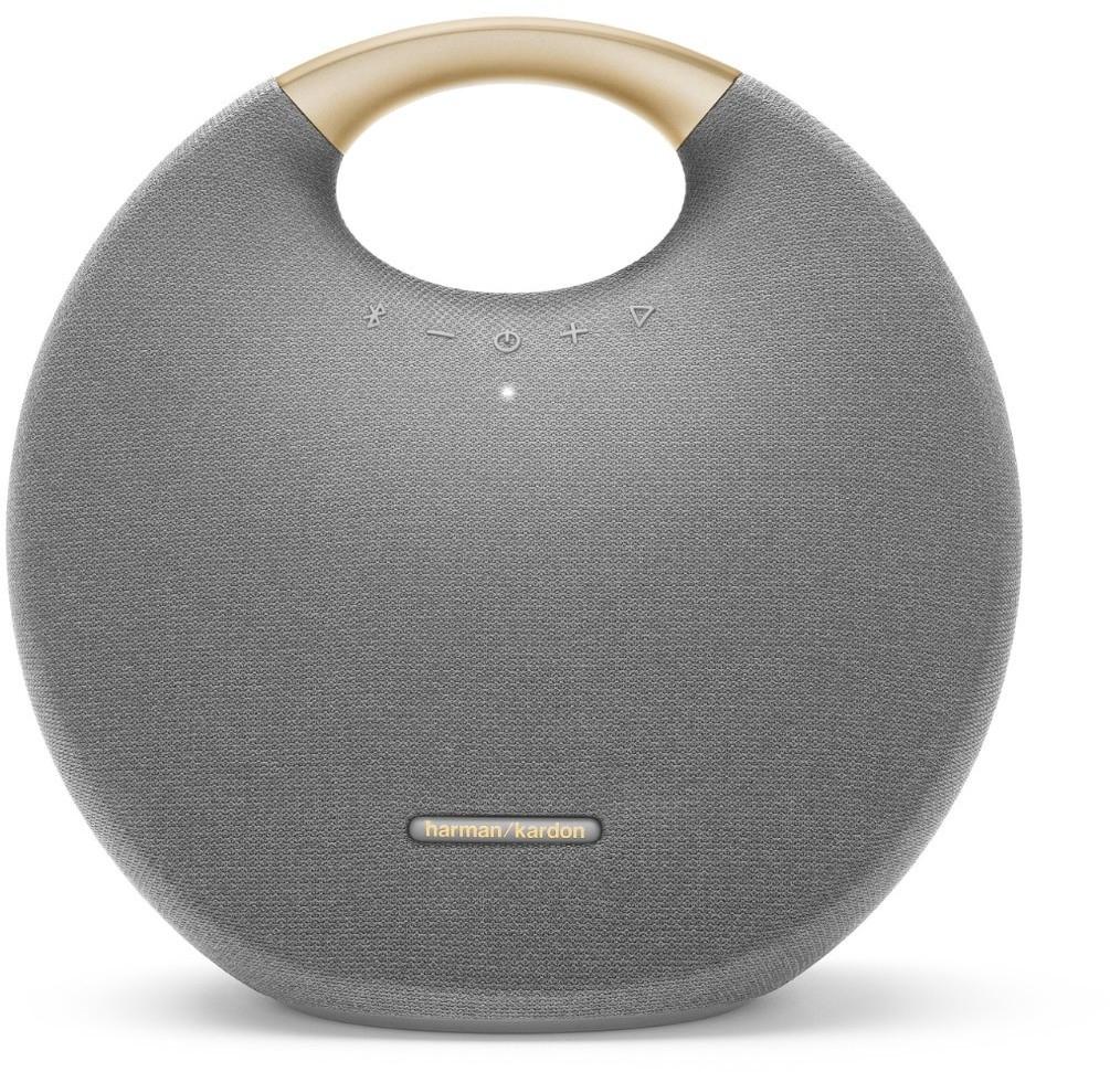 Harman-Kardon Onyx Studio 6 grau und blau - mobiler Bluetooth Lautsprecher mit 8 Stunden Wiedergabe | wasserfest nach IPX7