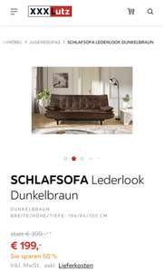 Urban Chic: Schlafsofa im Lederlook