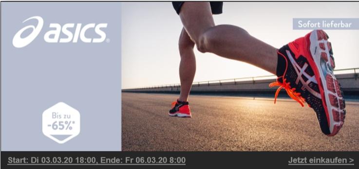 Asics Sale bis zu 65% bei Brands4Friends