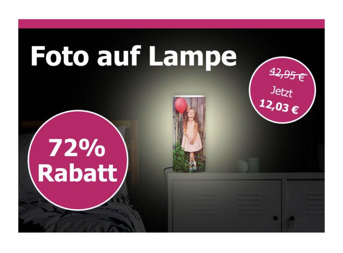 Lieblingsfoto.de Foto auf Lampe für 19,98€