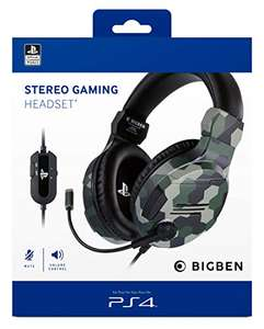 Bigben - Stereo Gaming Headset V3 (PS4) in Camouflage für 22€ (Amazon)