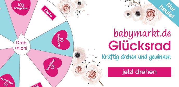 Kostenlos Guthaben/babypoints sammeln beim babymarkt.de Glücksrad