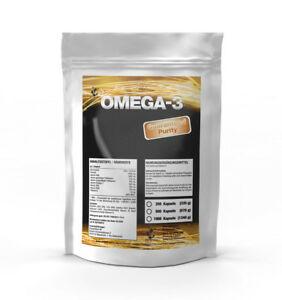 500 Kapseln Omega 3 Fischöl á 1000mg Hochdosiert - Beste Qualität!