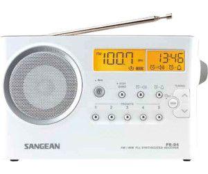SANGEAN PR-D4, TRAGBARES RADIO, UKW, MW, WEISS [Saturn]