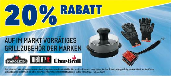 [Metro Offline] 20% Rabatt auf Grillzubehör der Marken (Napoleon + Weber + Char-Broil)