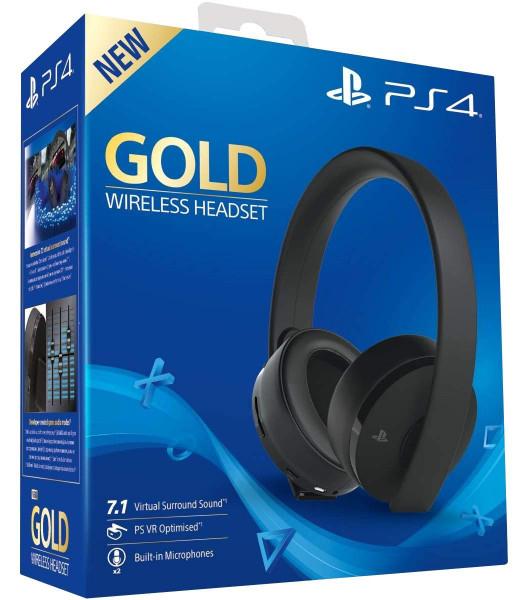 Sony Gold Black Wireless 7.1 Gaming Headset