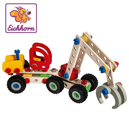 Eichhorn - Constructor Harvester, 140-tlg. Holz Konstructions-Set, 3 verschiedene Modellvarianten baubar für 18€ (Amazon Prime & Müller)