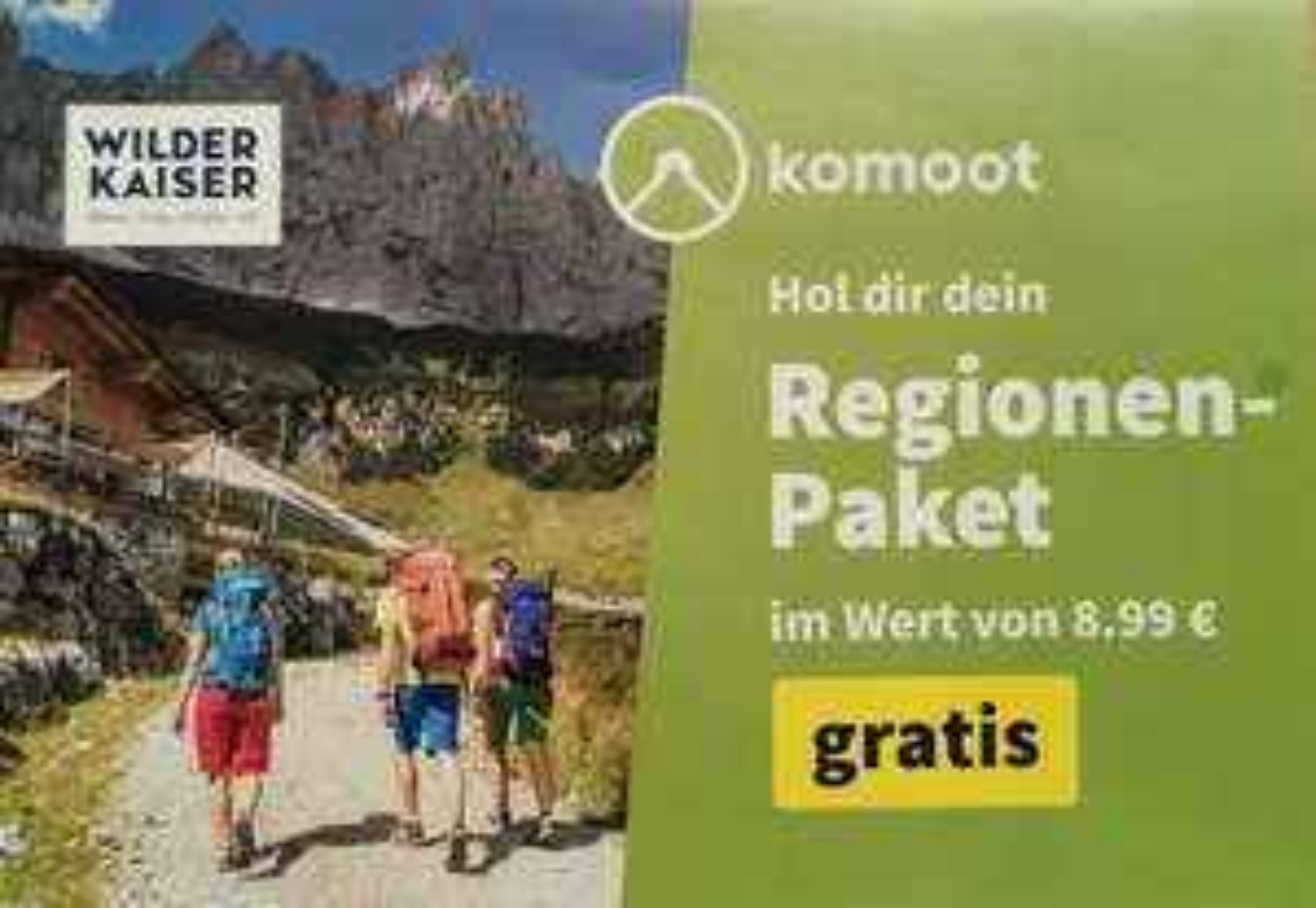 Komoot Regionen-Paket Wilder Kaiser Österreich