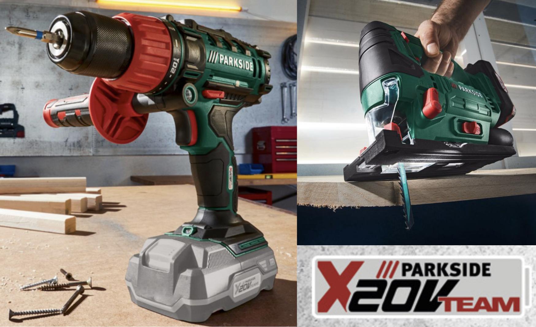 1 Akku für alles Werkzeug bei Lidl: Schlagbohrschrauber für 34,99€ / Pendelhub-Stichsäge für 34,99€ / Handkreissäge für 39,99€ usw.