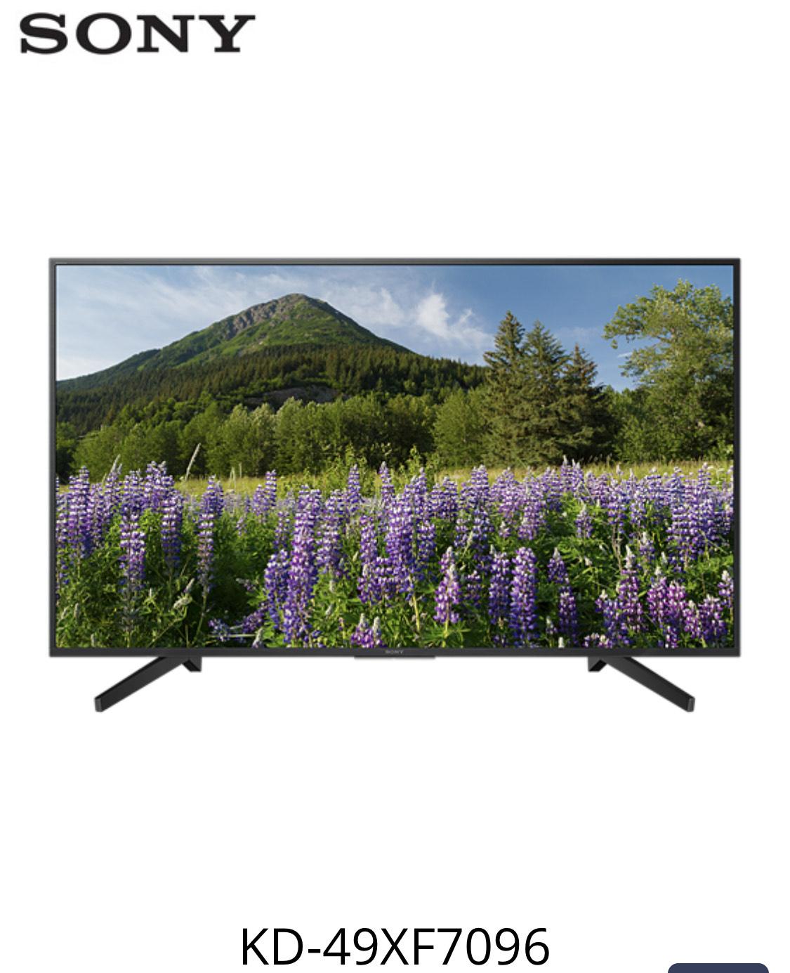 Sony KD-49XF7096 LED | 4K Ultra HD | High Dynamic Range (HDR) | Smart TV Schwarz