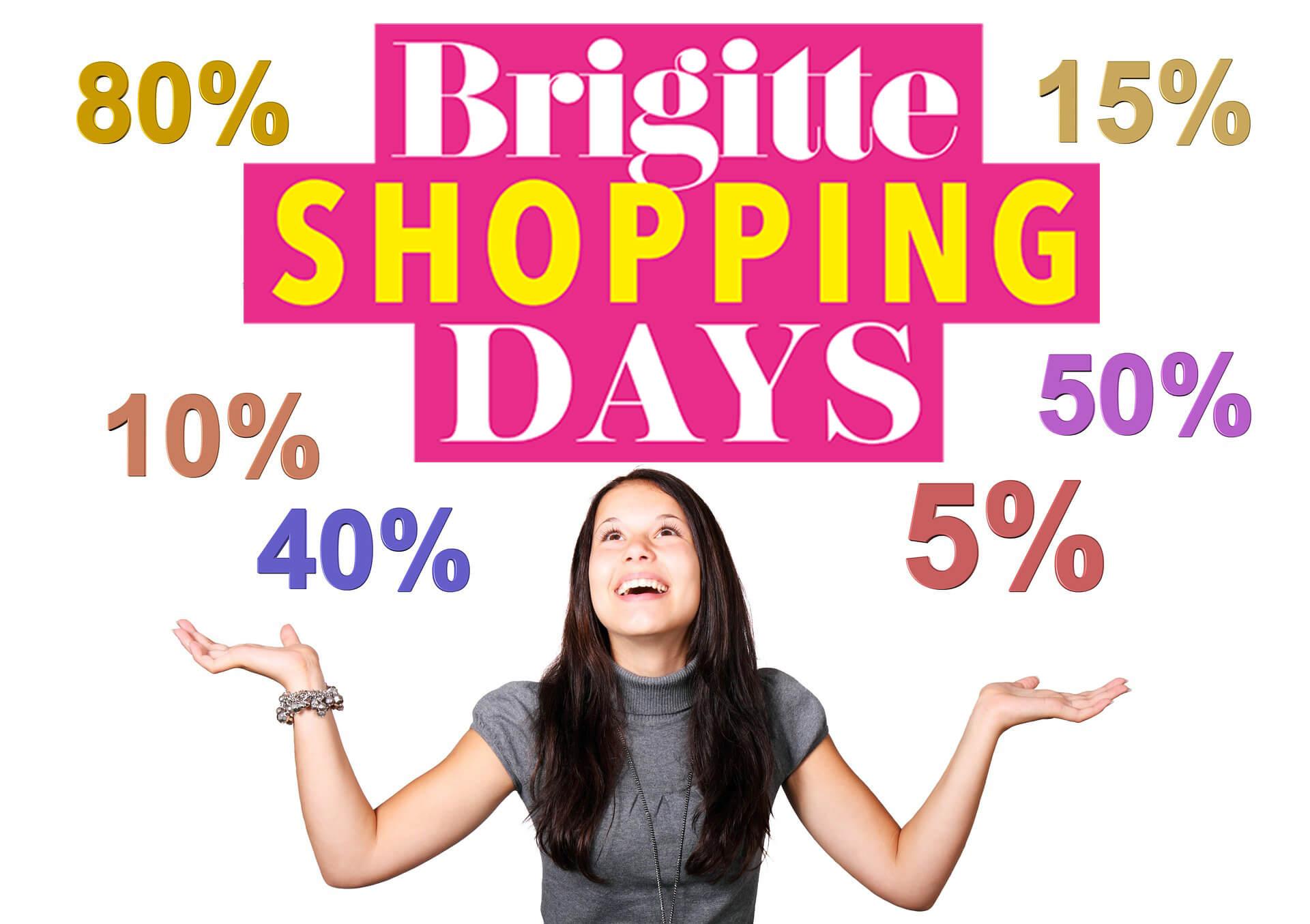 Brigitte Shopping Days: 25% Flaconi, 20€ Götz, 15% About You, 15% StreetOne usw. bis 16.03.2020