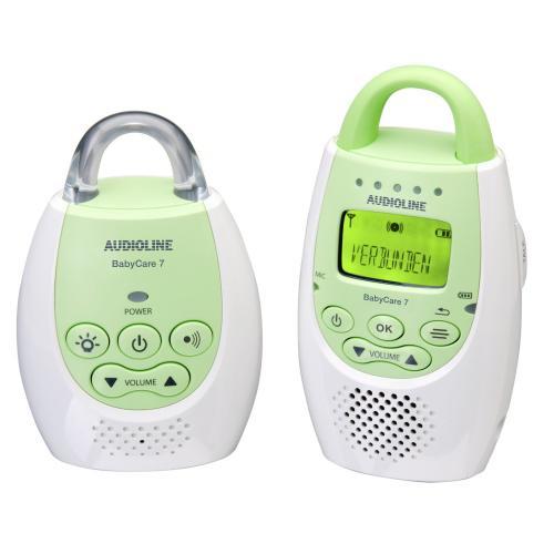 [amazon] Audioline 596016 Baby Care 7 Babyphon mit digitaler, rauschfreier Funkübertragung