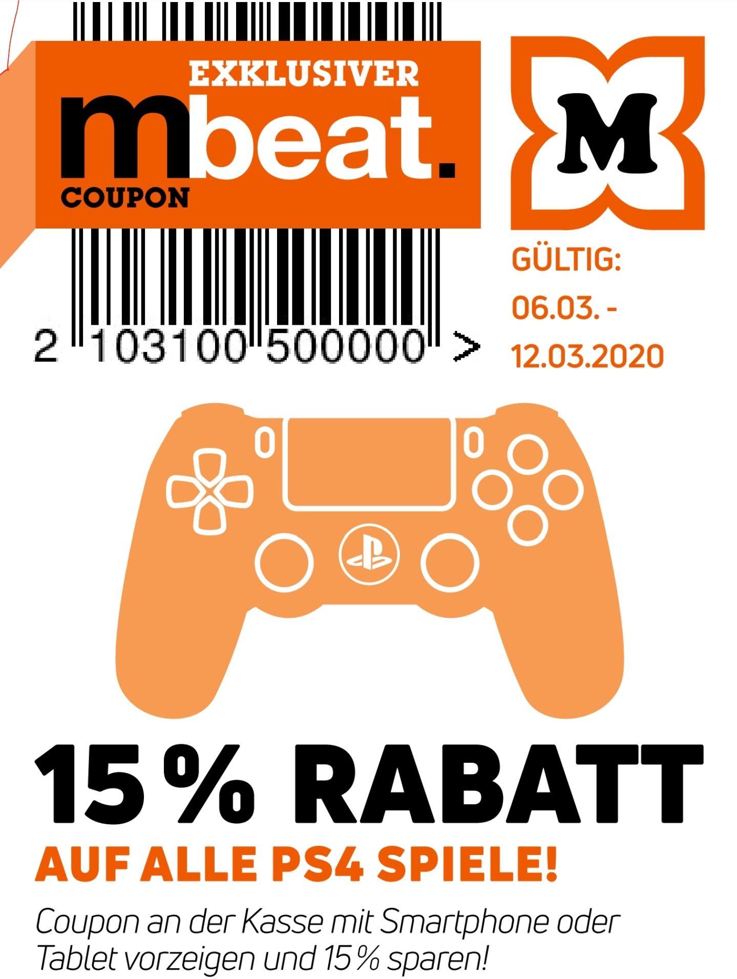 15% auf alle PS4 Spiele [Müller]