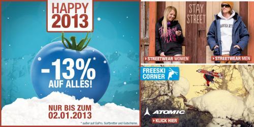 Blue Tomato Shop -13% auf Alles + kostenloser Versand