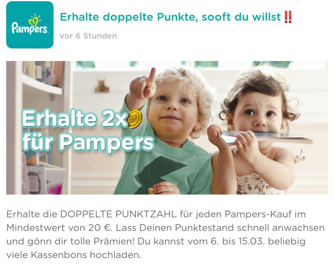 [Pampersclub] Doppelte Punkte erhalten ab 20 Euro