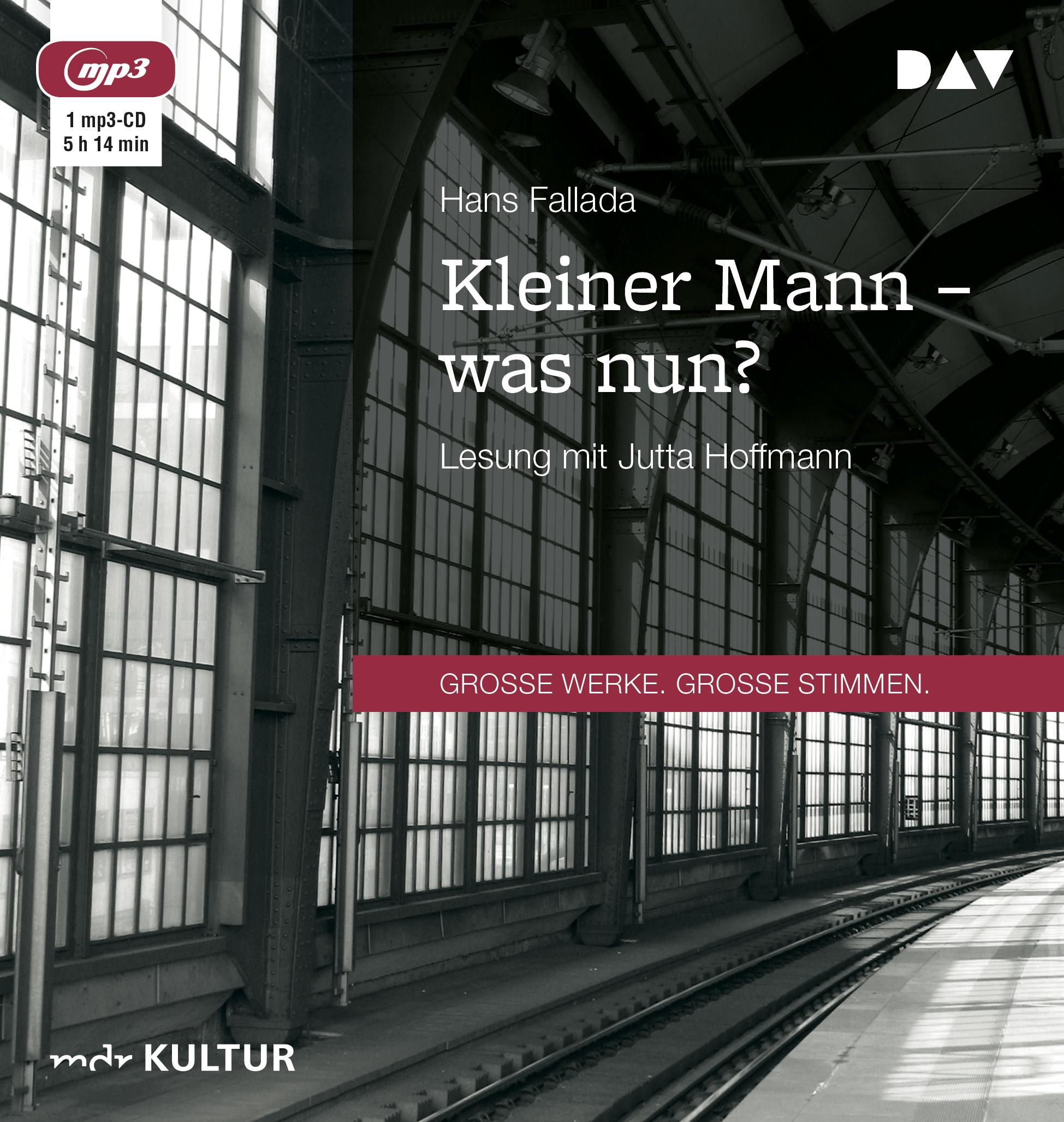 Hans Fallada • Kleiner Mann, was nun? - Gratis-Lesung (gekürzt) als Stream/Download bei MDR Kultur (mit mp3 & mp4-Direktlinks)