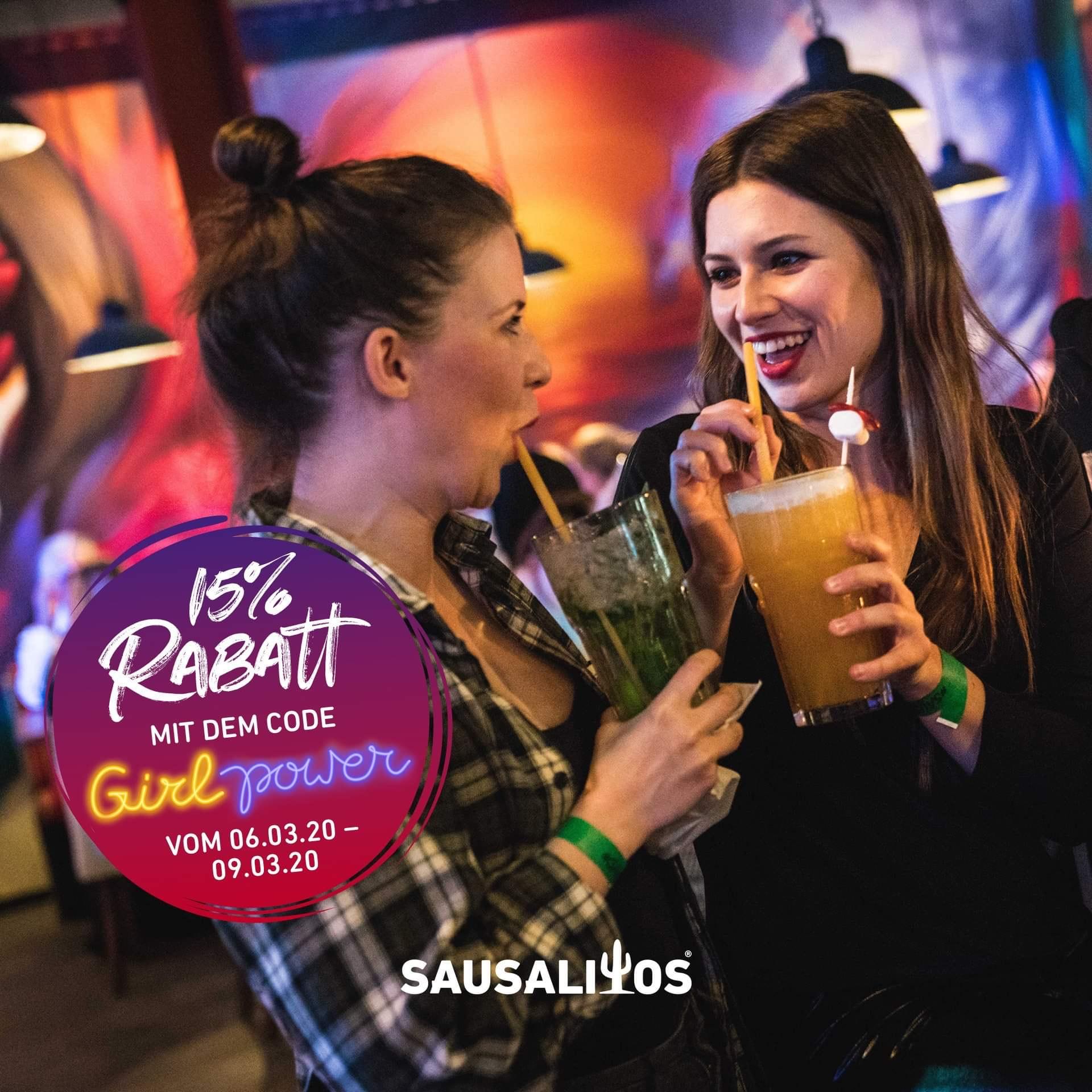 [Sausalitos] 12 Jumbo Cocktails Gutscheine für 63,74€