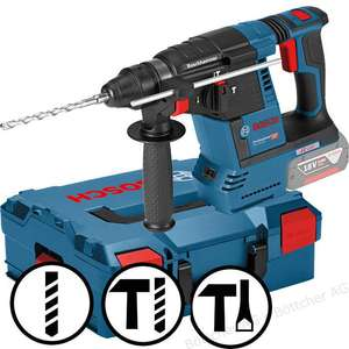 Lokal - Preisgarantie Hornbach - Bosch Bohrhammer GBH 18V-26, Professional, SDS+, 18V, mit Seitengriff und Koffer