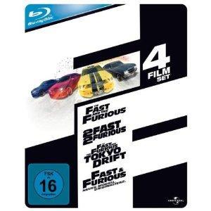 Fast and Furious 1-4 Blu-Ray Steelbook für 33,75 Euro bei Amazon