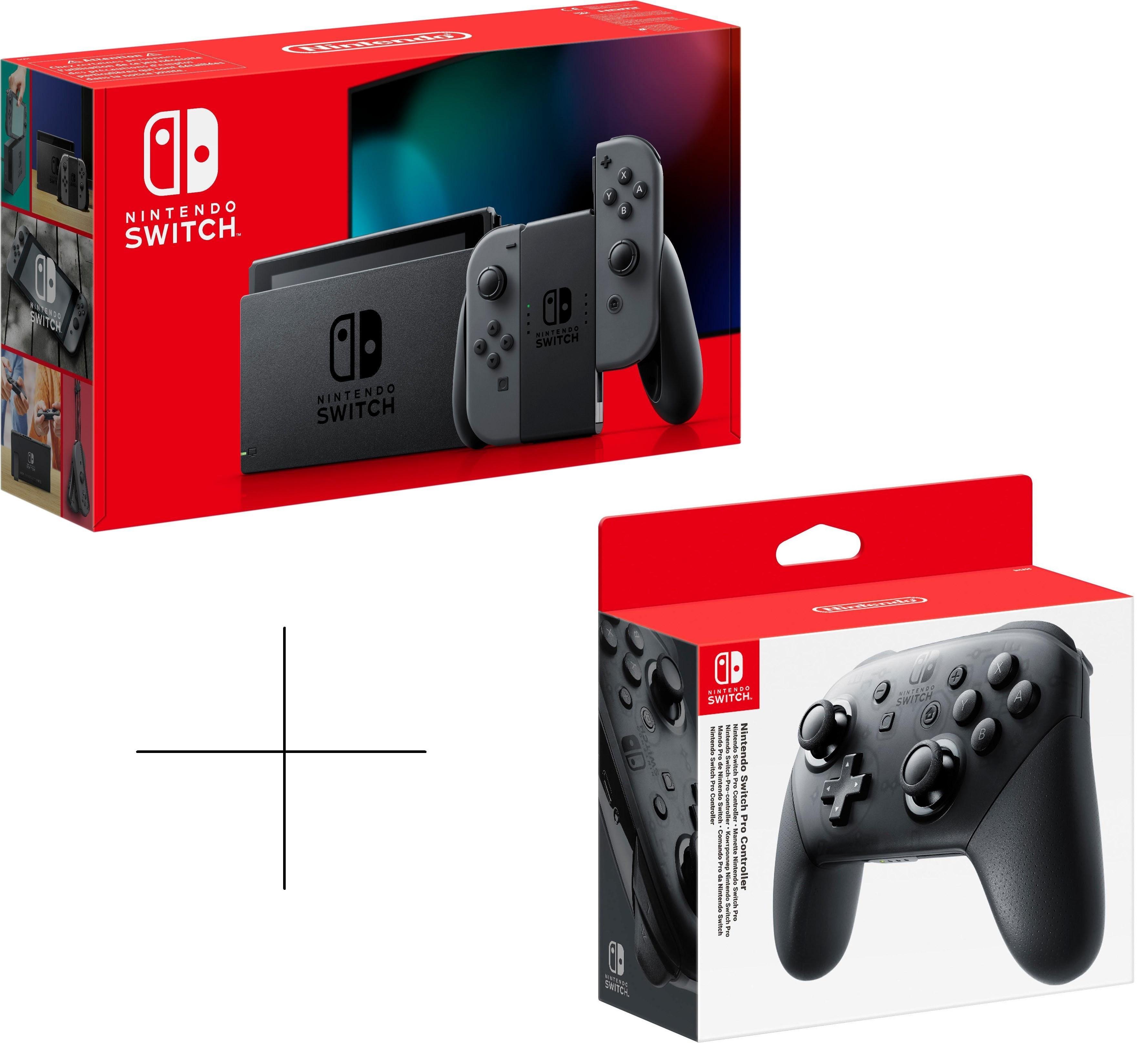 Nintendo Switch (neue Version) grau oder neon-rot/blau + Nintendo Switch Pro Controller für 309€ + 15fach Payback Punkte (Media Markt)