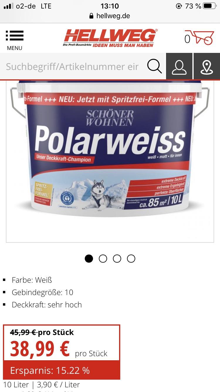 Bauhaus: schöner Wohnen Polarweiss mit Tiefpreis-Garantie