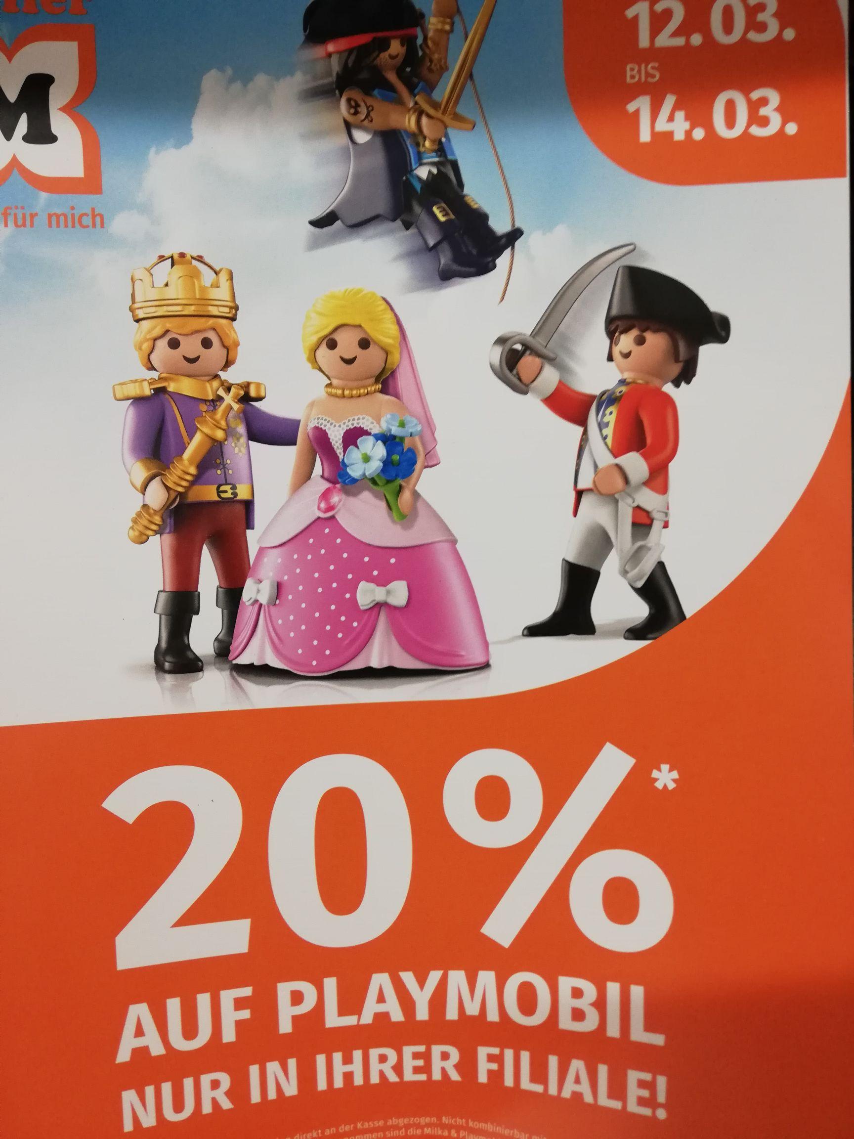 20% auf Playmobil Spielzeug bei Müller