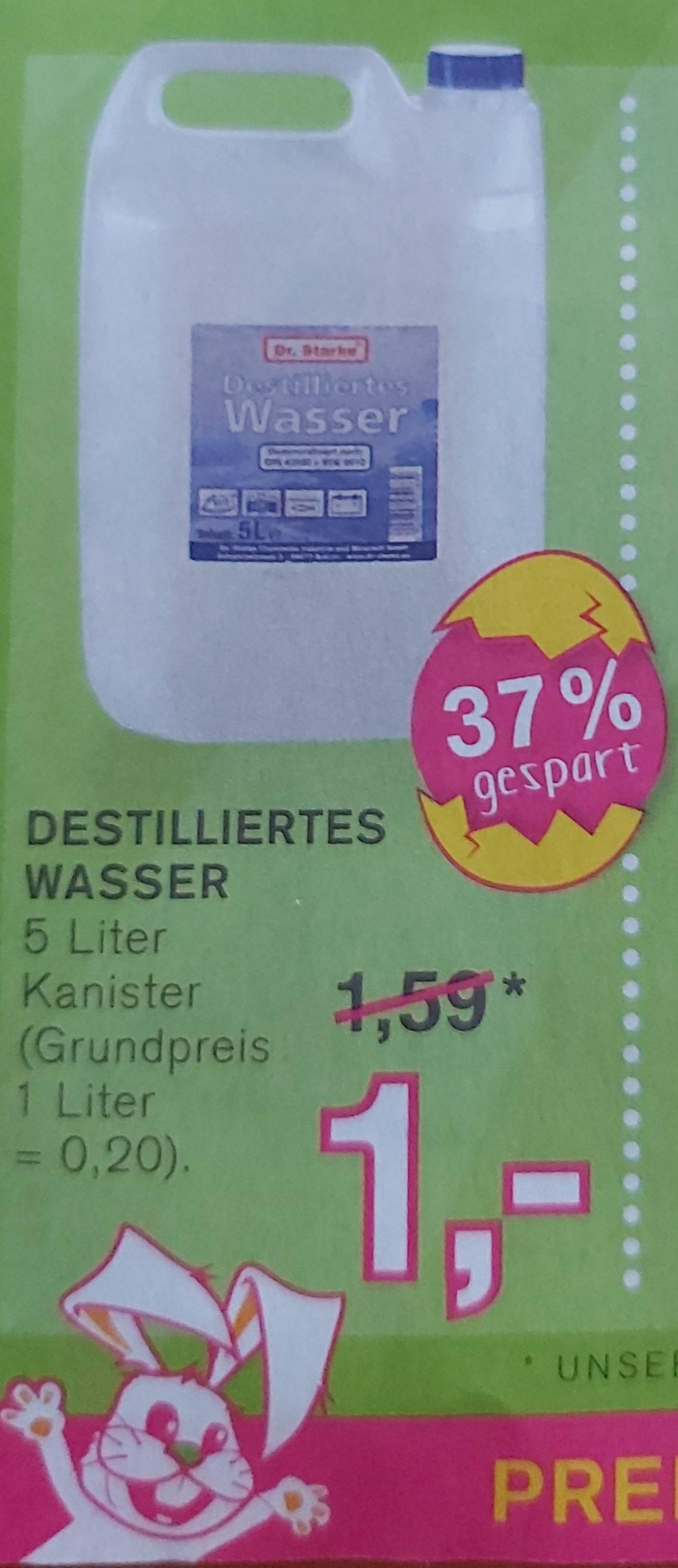 Destilliertes Wasser 5L für 1 Euro [ab 09.03. Kodi-Filiale]