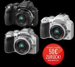 Panasonic Cameras 50€ Cashbackaktion auf ausgewählte Artikel