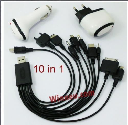 Universal Ladegerät 10in1 + 2 Adapter