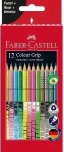FABER CASTELL Farbstift Colour Grip 12er-Etui Karton, Sonderfarbenset für 4,99€ (Müller Abholung)