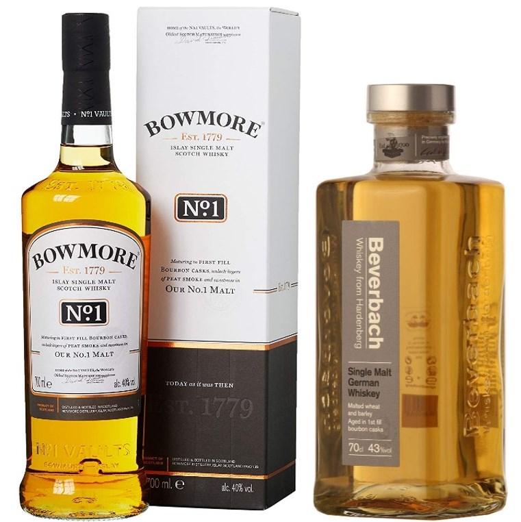 Whisky-Übersicht #16: Sammeldeal, z.B. Bowmore No.1 für 23,39€, Beverbach Single Malt German Whisky für 36,43€ inkl. Versand [Real | Amazon]