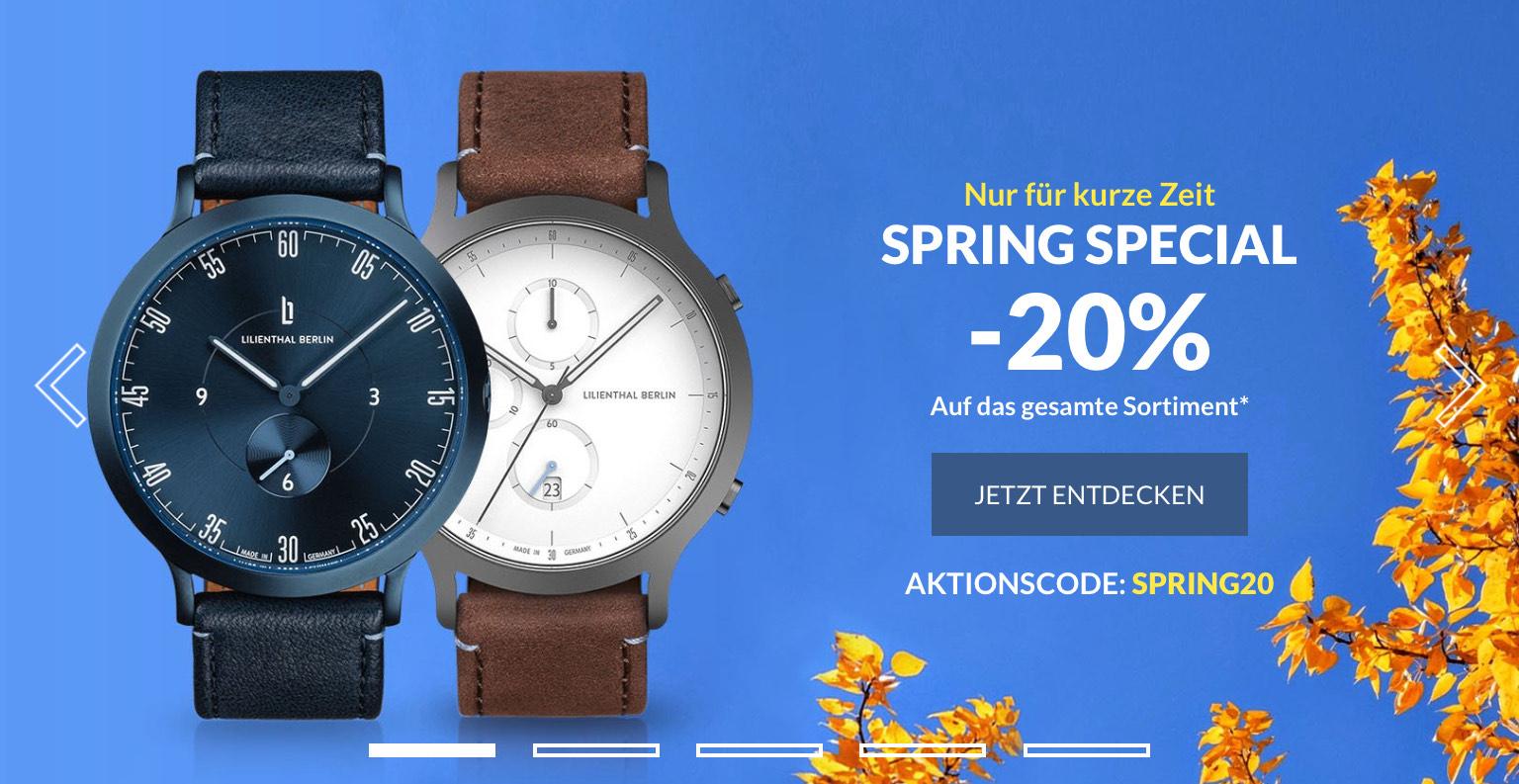 Lilienthal Uhren Berlin - 20% auf alle Uhren