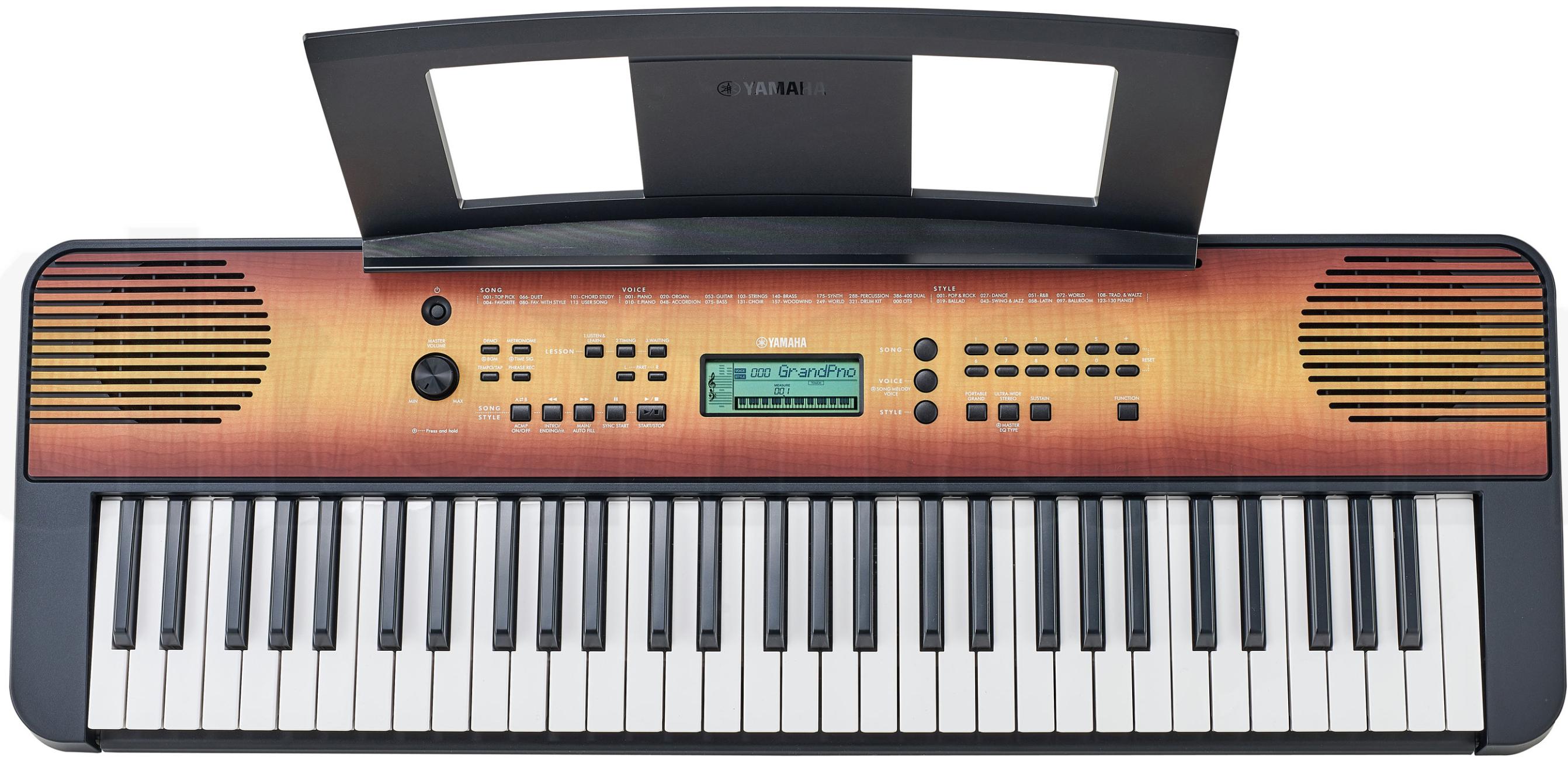 Yamaha Digital Keyboard PSR-E360MA, Ahorn – Digitales Einsteiger-Keyboard mit 61 Tasten mit Anschlagdynamik