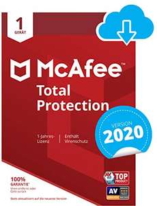 [Amazon] McAfee Total Protection 2020   1 Gerät   1 Jahr   PC/Mac/Smartphone/Tablet   Download Code