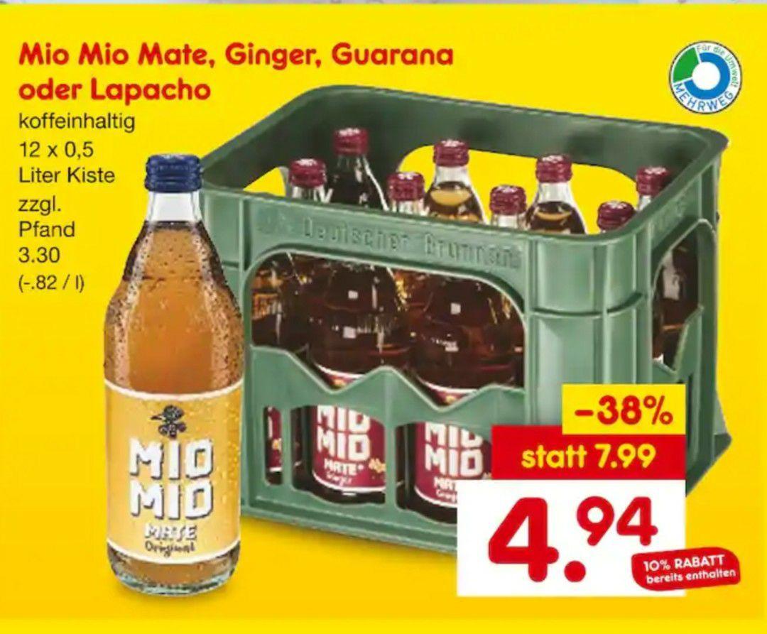 (Lokal Netto MD Berlin Bruno-Taut-Str.) 1 Kiste Mio Mio Mate verschiedene Sorten