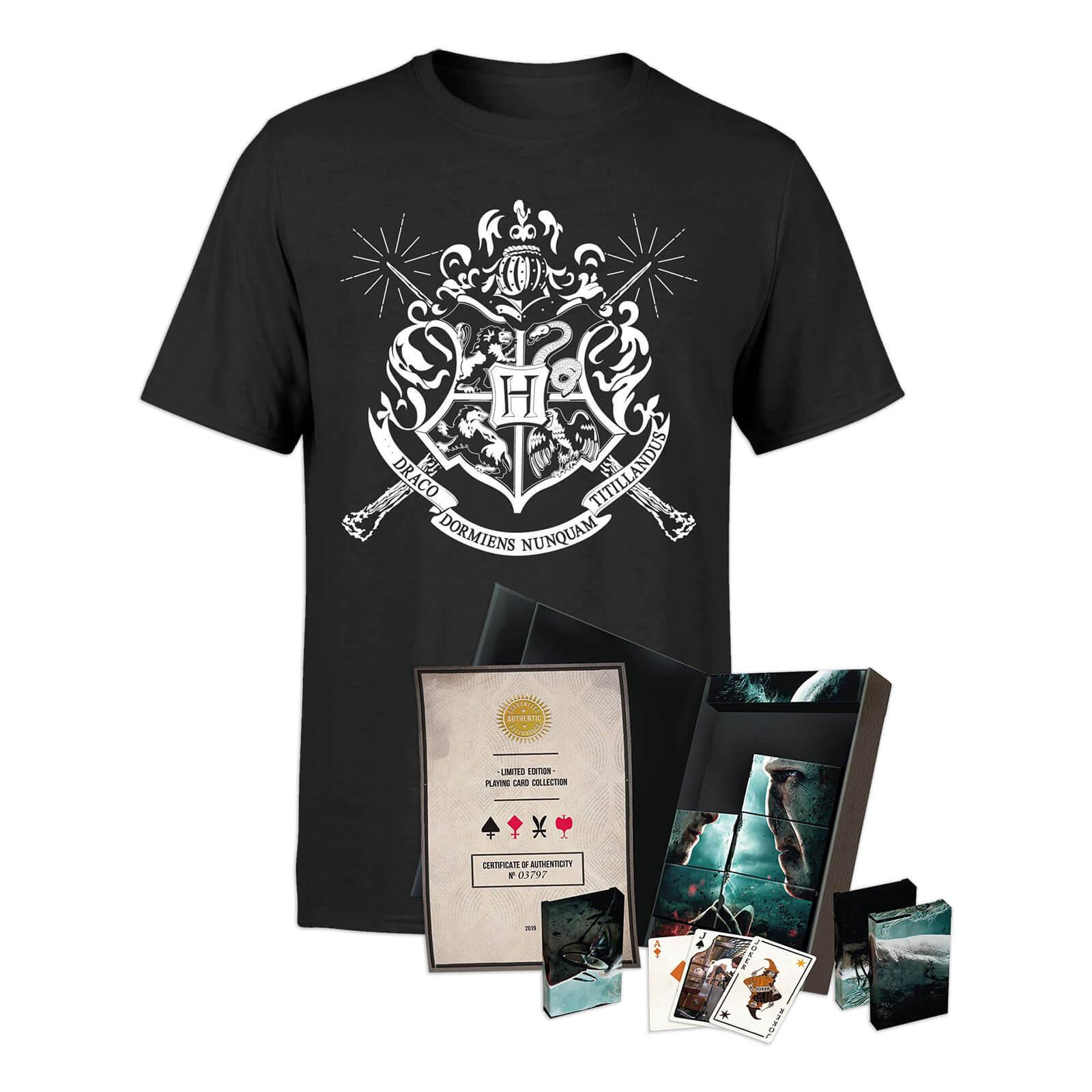 Harry Potter 8x Spielkarten Ltd. Edition Set + Damen oder Herren T-Shirt für 24,48€, 8x Poker-Karten für 18,48€ Versand ab dem 30 April 2020