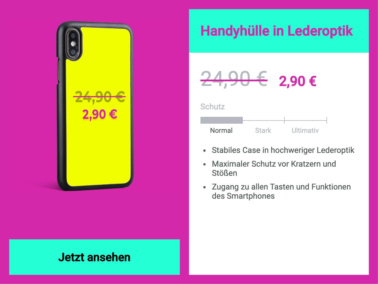 Handyhülle für 2,90 € (+2,90 € Versand)