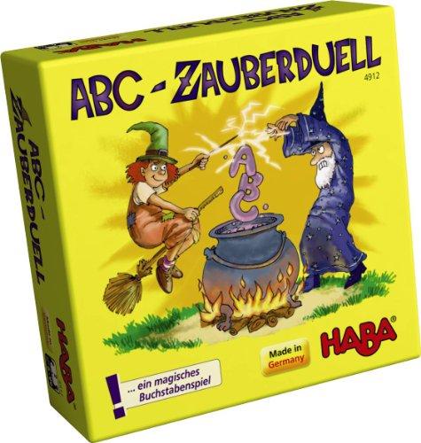 ( AMAZON PRIME & THALIA ) Haba 4912 - ABC Zauberduell, Lernspiel ab 6 Jahren zum Buchstaben lernen, Kinderspiel Reise- und Mitbringspiel