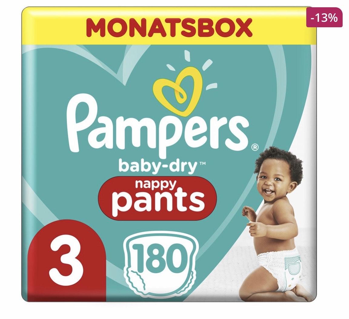 Pampers Baby Dry Pants 25% Rabatt bei Windeln.de und DM (online und offline)