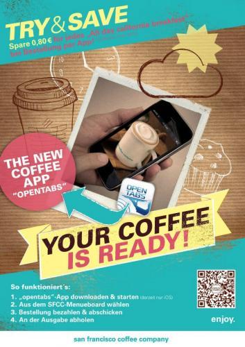Bestellen per App und €0,80 für jedes Frühstückssparmenü bei SFCC sparen