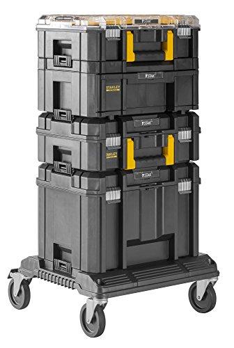 Stanley FatMax TSTAK Aktions-Tower (Bestehend aus Boxen V, III, II, VI und Rollenwagen, robust, Staplerbar) FMST1-80107