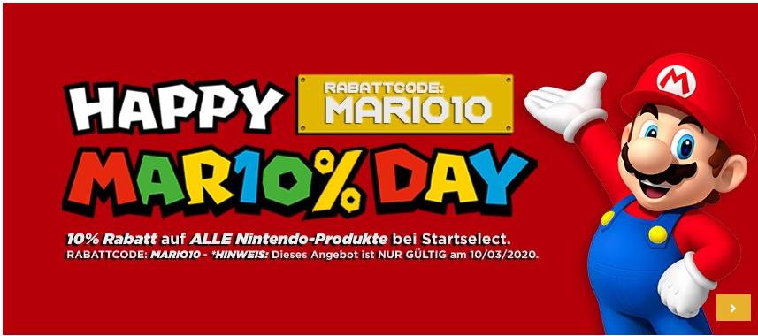 10% Rabatt auf alle Nintendo-Produkte bei Startselect